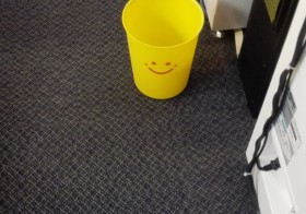 ゴミ箱がかわいいゲーセン♡